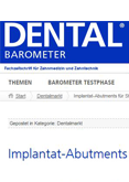 Implantat-Abutments für Standardversorgungen
