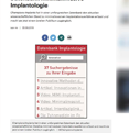 Datenbank Implantologie